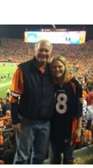Dana & Dad at Bronco game